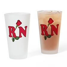 RN Nurses Rose Drinking Glass