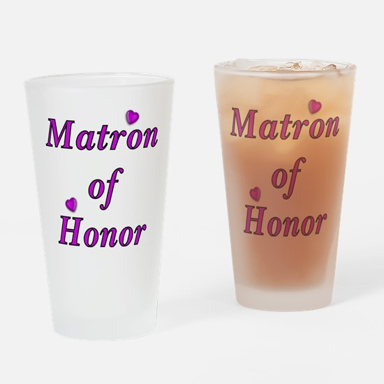 Matron of Honor Simply Love Drinking Glass