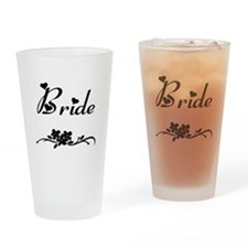 Classic Bride Drinking Glass