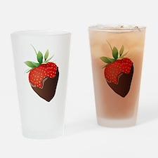 Chocolate Strawberry Drinking Glass