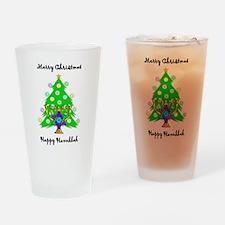 Hanukkah and Christmas Interfaith Drinking Glass