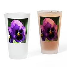 Purple Pansy Pint Glass