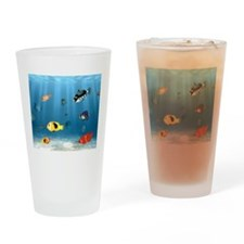 Oceans Of Fish Drinking Glass