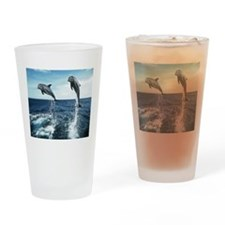 Dolphins In The Ocean Drinking Glass