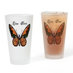 Butterfly Drinking Glass