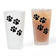 Pet Paw Prints Drinking Glass
