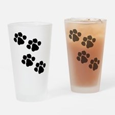 Pet Paw Prints Drinking Glass