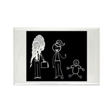 Pooped on Dad-one daughter Rectangle Magnet