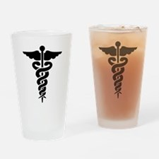 Medical Symbol Caduceus Drinking Glass