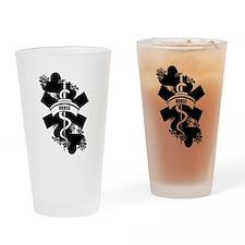 Nurse Heart Tattoo Drinking Glass