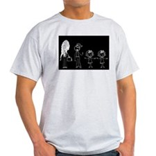 Pooped on Dad (w/ two girls) T-Shirt