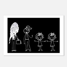 Pooped on Dad (w/ two girls) Postcards (Package of