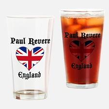 Paul Revere Loves England Pint Glass