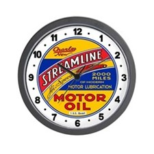 Streamline Motor Oil Wall Clock