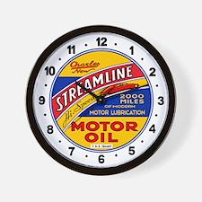 Streamline Motor Oil Wall Clock