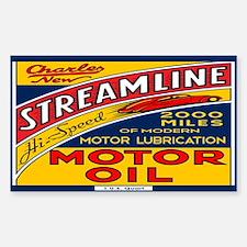 Streamline Motor Oil Sticker (Rectangle)