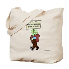 Alien Rights Tote Bag