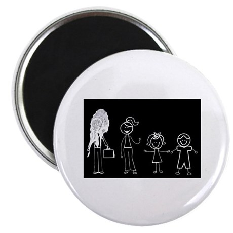 Pooped on Dad (w/ 1 girl & 1 boy) Magnet
