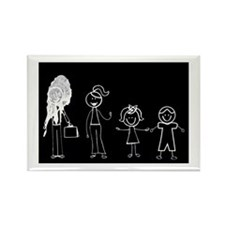 Pooped on Dad (w/ 1 girl & 1 boy) Rectangle Magnet