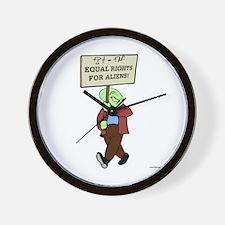 Alien Rights Wall Clock