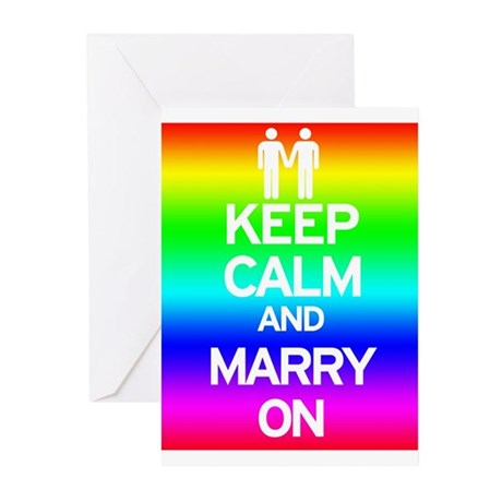 Keep Calm and Marry On Greeting Cards (Pk of 10)