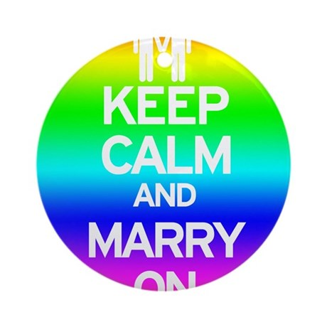 Keep Calm and Marry On Ornament (Round)