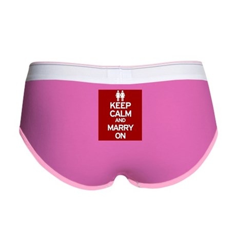 Keep Calm and Marry On Women's Boy Brief