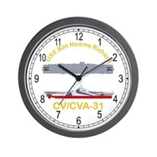 USS Bon Homme Richard CV-31 Wall Clock