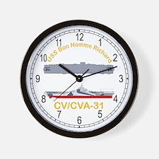 USS Bon Homme Richard CV-31 Wall Clock