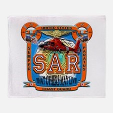 USCG Coast Guard SAR Throw Blanket