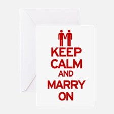 Keep Calm and Marry On Greeting Card