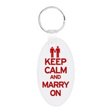 Keep Calm and Marry On Keychains