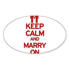 Keep Calm and Marry On Decal
