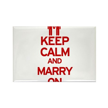 Keep Calm and Marry On Rectangle Magnet (10 pack)