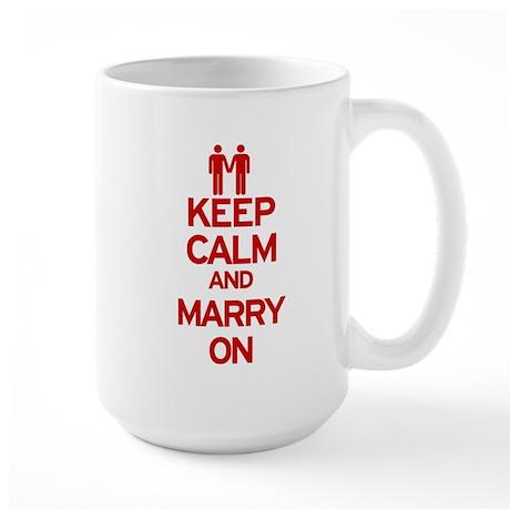 Keep Calm and Marry On Large Mug