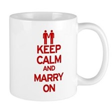 Keep Calm and Marry On Small Mugs