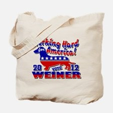 Weiner 2012 Working Hard for Tote Bag