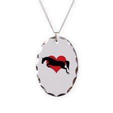 Cute Equestrian Necklace Oval Charm