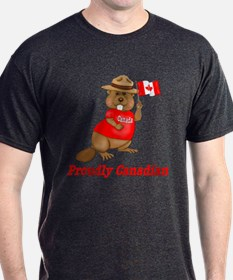 Proudly Canadian Black T-Shirt