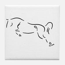 Cute Jumping horse Tile Coaster