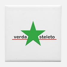 Little Green Star Tile Coaster