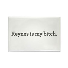 Keynes Is My Bitch Rectangle Magnet (10 pack)