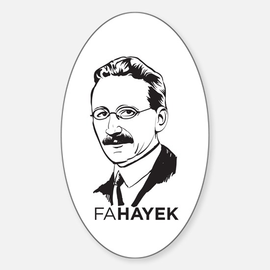 Hayek Sticker (Oval)