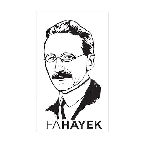 Hayek Sticker (Rectangle)