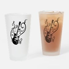 Retro Guitar waves Pint Glass