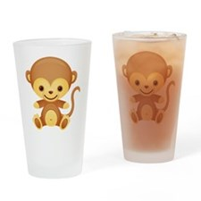 Cute Kawaii Monkey Pint Glass