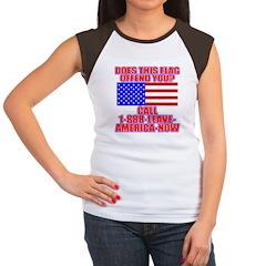Patriotic or Leave America Women's Cap Sleeve T-Sh