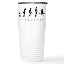 Skiing Evolution Travel Mug