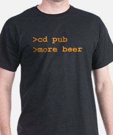 cd pub Black T-Shirt