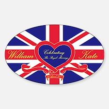 Funny Catherine middleton Sticker (Oval)